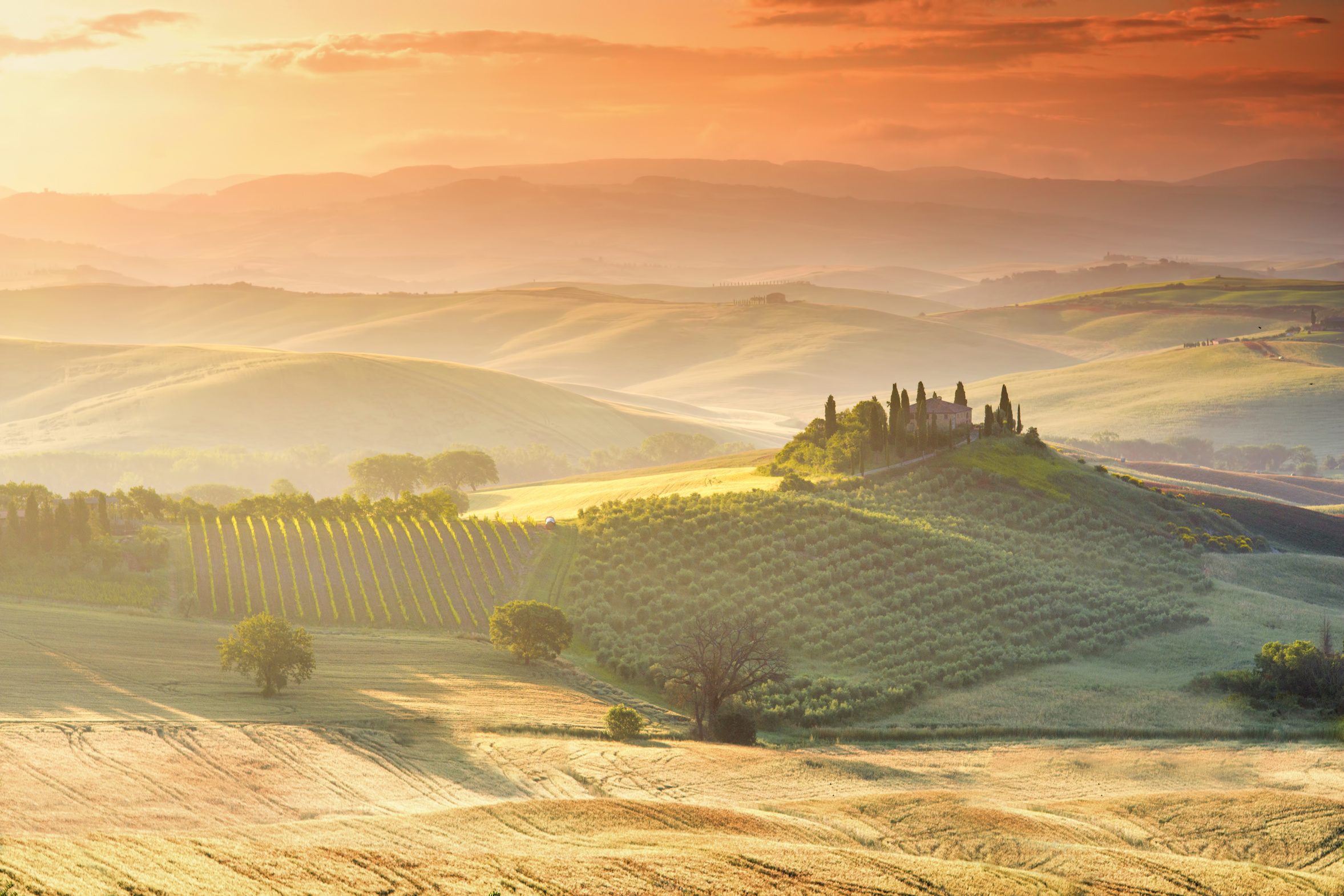 Beautiful tuscan landscape view